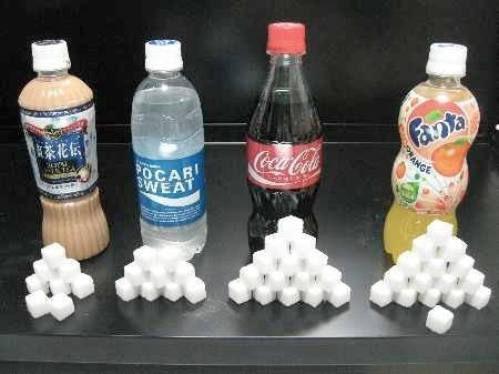 知ってよかった? 知らない方が良かった? 各清涼飲料に含まれる砂糖の量。